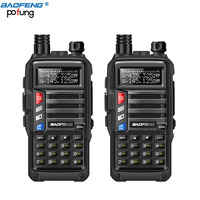 2-pcs-baofeng-bf-uvb3-plus-8w-high-power-uvb3-plus-dual-band-10km-long-range-walkie-talkie-3800mah-battery-usb-charger