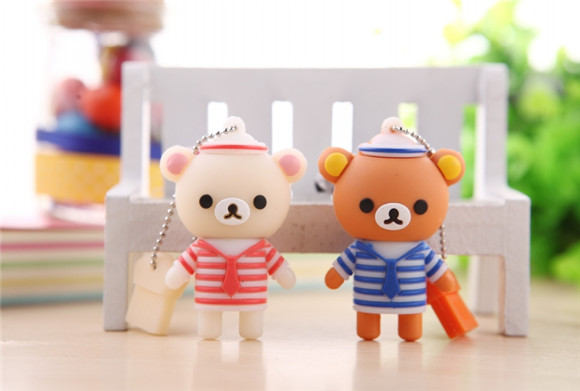 cute twins bear USB 2.0 usb flash drives thumb pendrive u disk usb creativo memory stick usb flash drive S637