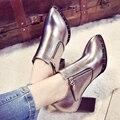 Sapatos único apontou sapatos boca profundo de novo fundo de 2016 invernos do outono é grosso com sapatos da moda confortáveis sapatos de salto alto