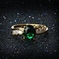 Pedra CZ Anéis Para Mulheres Banhado A Ouro da Festa de Casamento Moda Vermelho Azul Verde Pedra Anel De Noivado Cúbicos de Zircônia Jóias