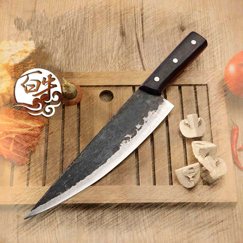 Free Shipping Metal Forged Handmade Clip Steel Chef Boning Knife Split Butcher Meat Knife Kitchen Professional