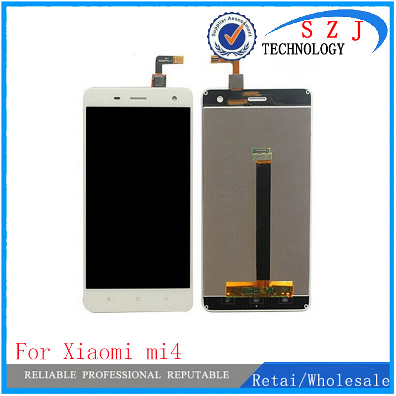 New 5'' inch case For Xiaomi Mi4 LCD Display + Touch Screen + Assembly Replacement For mi 4 M4 Mobile Phone + Free Shipping high quality new repair parts for xiaomi mi 4 m4 mi4 lcd display and touch screen digitizer replacement cell phone black
