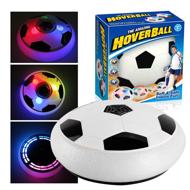 Clignotant enfants jouer Hover Football amusant léger coussin d'air suspendu Football intérieur extérieur sport jeu cadeau pour enfants jouet balle