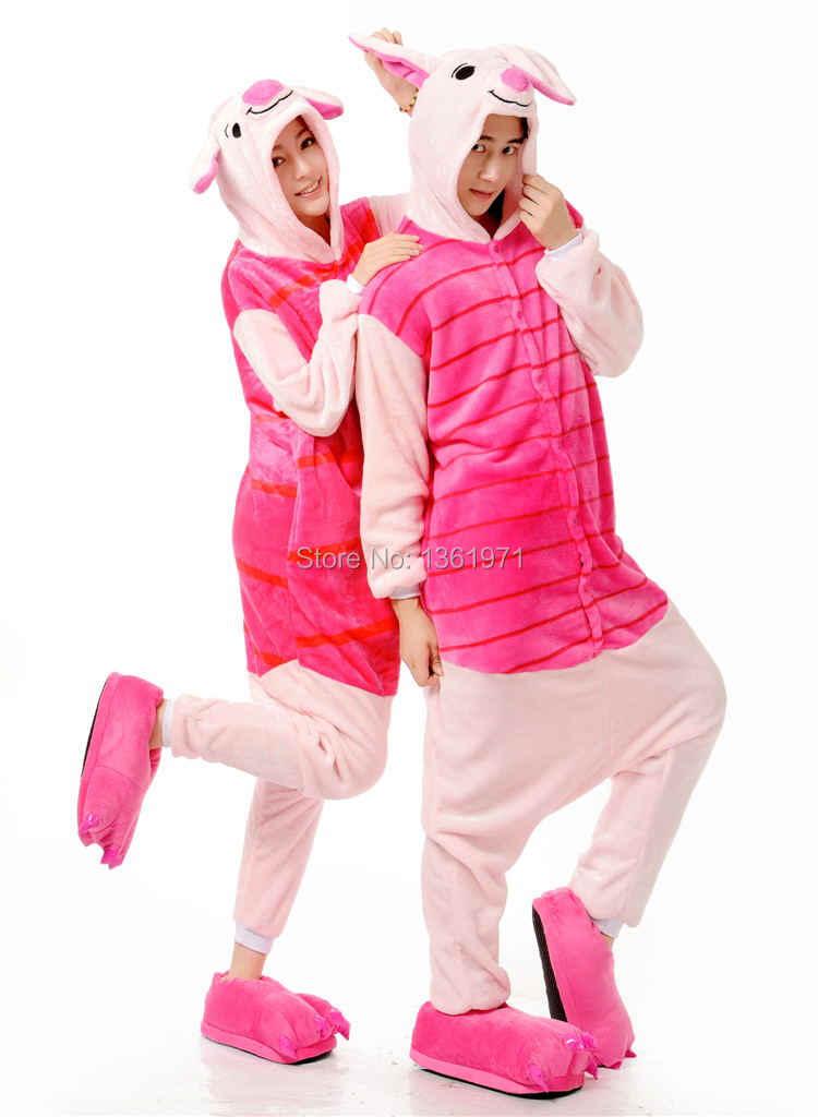 ... HKSNG зима Для женщин Для мужчин взрослых животных Пижама для взрослых  «Свинка» унисекс рождественские ab0c454fa2f78