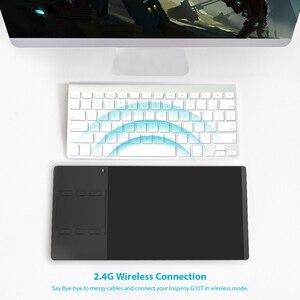 Image 3 - جهاز لوحي مزود بقلم رقمي بمستويات 8192 من Huion Inspiroy G10T وجهاز لويحة الرسم البياني اللاسلكي مع وظيفة تعمل باللمس ومفاتيح صريحة وقفازات