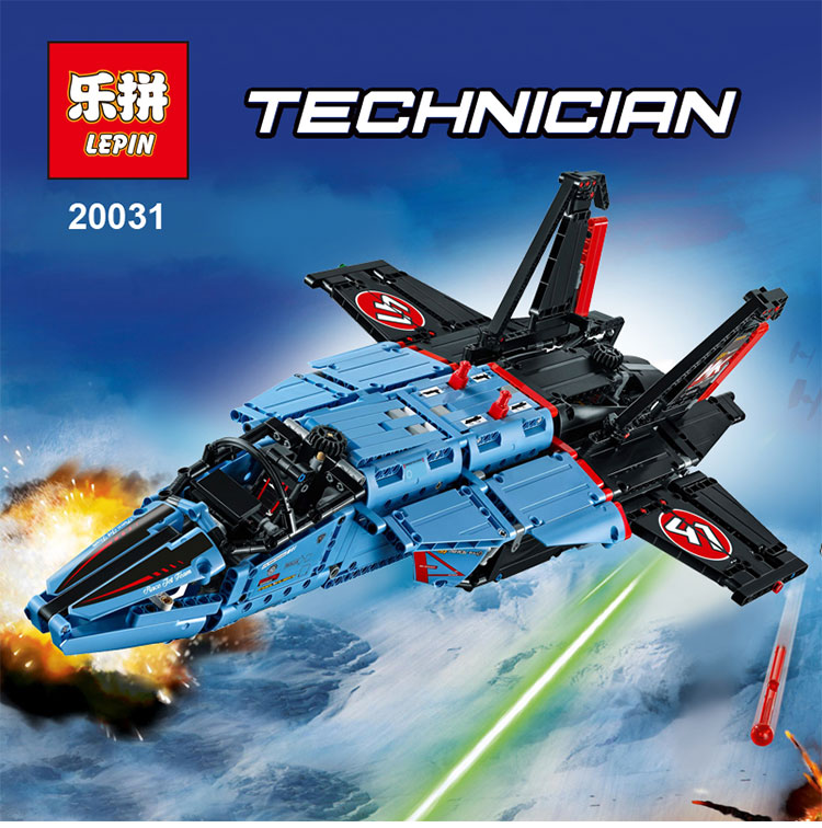 LEPIN 20031 1151pcs Technic Series The jet racing aircraft Model Building Kits Brick Toy Compatible legoed 42066 lepin 20031 technic the jet racing aircraft 42066 building blocks model toys for children compatible with lego gift set kids