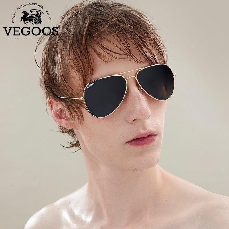 VEGOOS Brand Designer Men Sunglasses Pilot Aviation Gradient Lenses Eyewear For Men s Unisex Sun Glasses