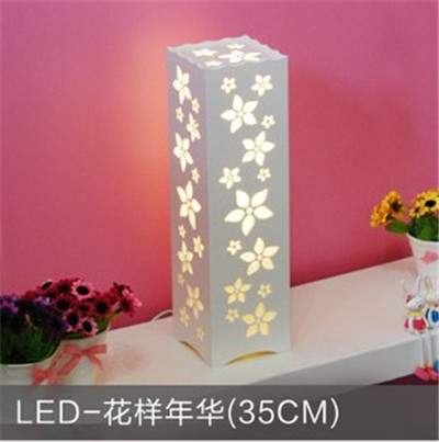 Sainavi Modern Brief wood plastic table Lamp Bedroom Lights Living ...