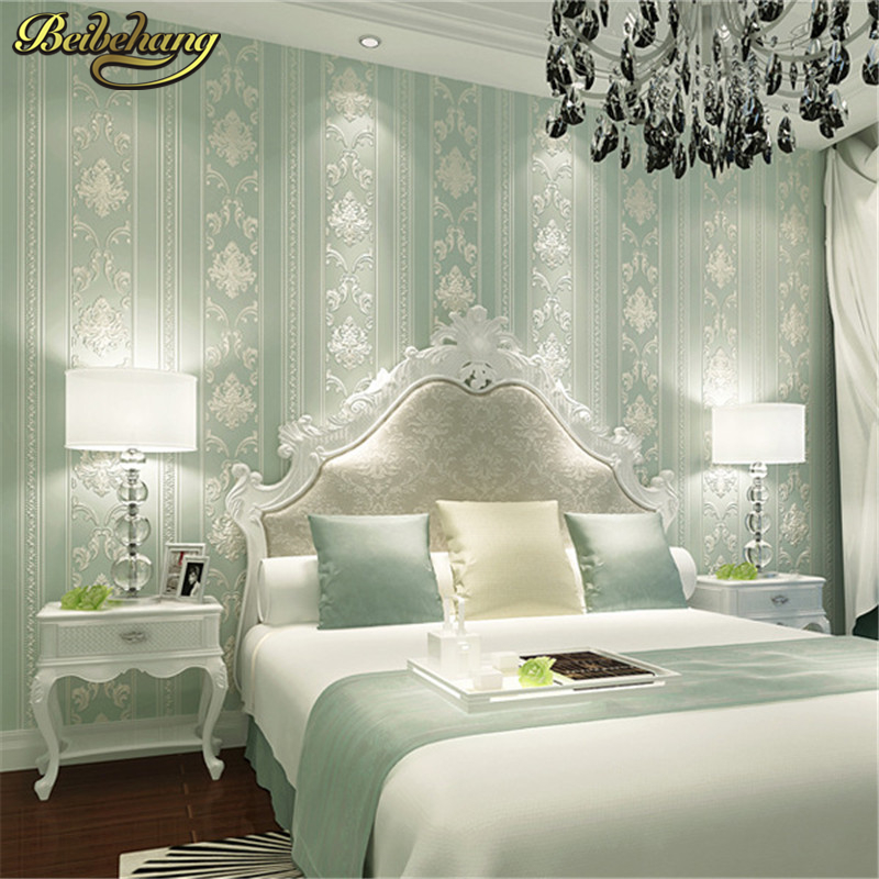 Beibehang European Simple Vertical Papel De Parede 3D Wallpaper For Wall 3 D Classic Room Bedroom Wall Paper Home Decor Flooring