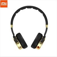Newest Black Champagne Gold Original Xiaomi Headset Mi HiFi Stereo Headphone With Mic Foldable 3 5mm