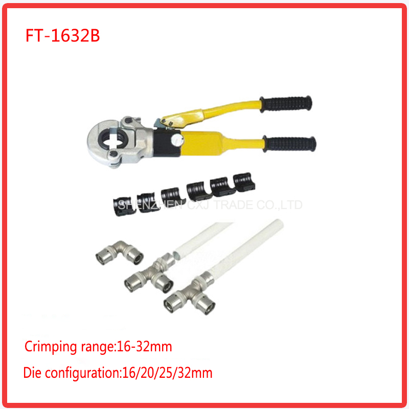 Free shipping by DHL 1pcs Hydraulic Fitting Tool FT-1632B for PEX pipe fittings PB pipe Copper AL connecting range 16-32mm набор для специй fitz and floyd английский сад 2 предмета