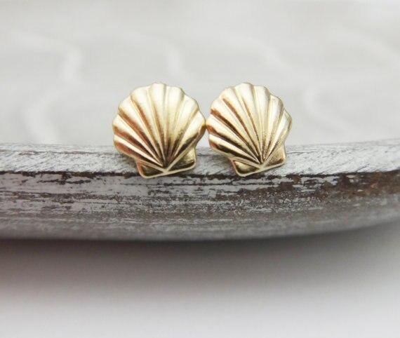 10pair Clam Sea S Earrings Seas Stud Beach Conch Nautical Ariel Mermaid Studs Jewelry In From Accessories