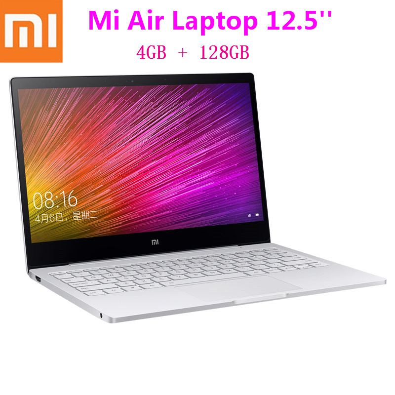 Ordinateur portable Xiao mi mi Air 12.5 pouces Ultra mince Windows 10 Intel Core M3-8100Y 4 GB 128 GB clavier rétro-éclairé HD mi chargeur rapide ordinateur portable