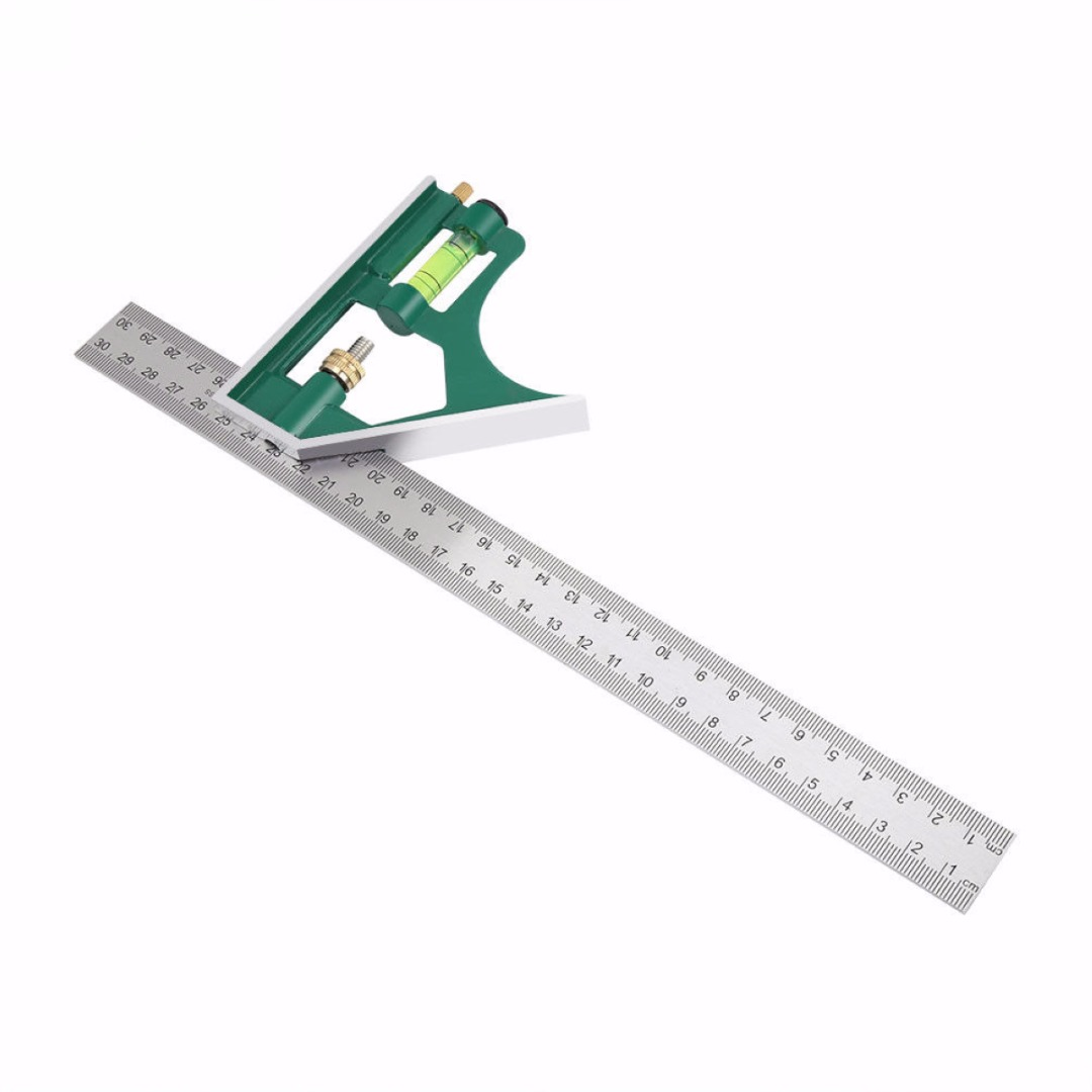 Multi-funcational 300mm Combination Square Angle Protractor 45 / 90 Degree Angle Ruler Measuring Tools High Quality Mayitr