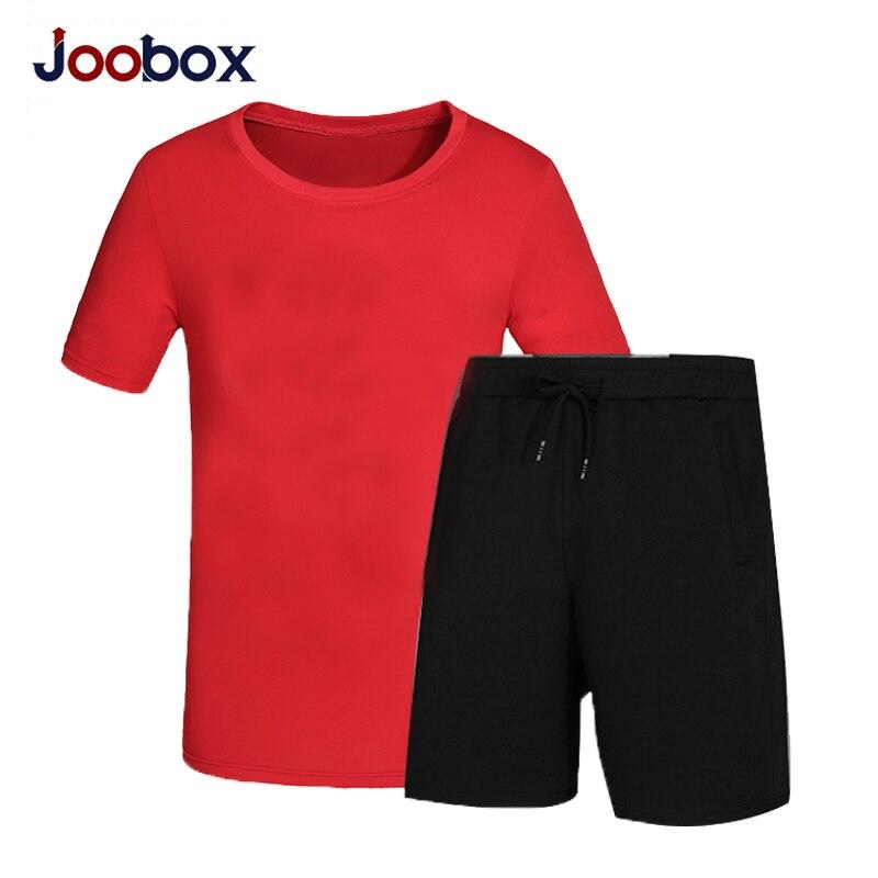 JOOBOX летний комплект повседневные комплект из двух предметов короткий рукав Футболка Для Мужчинs