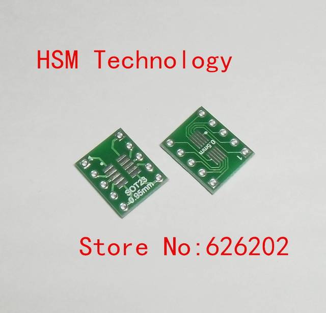 100pcs/LOT  SOT23 SOP10 MSOP10 UMAX10 turn DIP10 0.5MM 0.95MM Pitch IC adapter Socket PCB