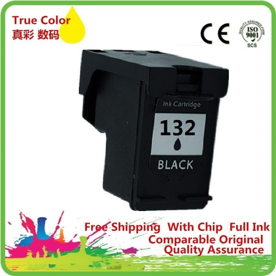 Black <font><b>Ink</b></font> Cartridges Remanufactured For 132 XL 132XL HP132 HP132XL PHOTOSMART <font><b>C3100</b></font> C3110 C3125 C3135 C3140 C3150 C3170 image