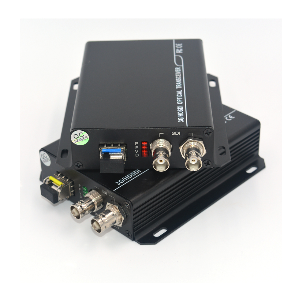 3G HD SDI Video/Audio Over Fiber Optic Media Converters Transmitter Receiver Single Fiber Up 10Km SFP LC For HD Video Broadcast