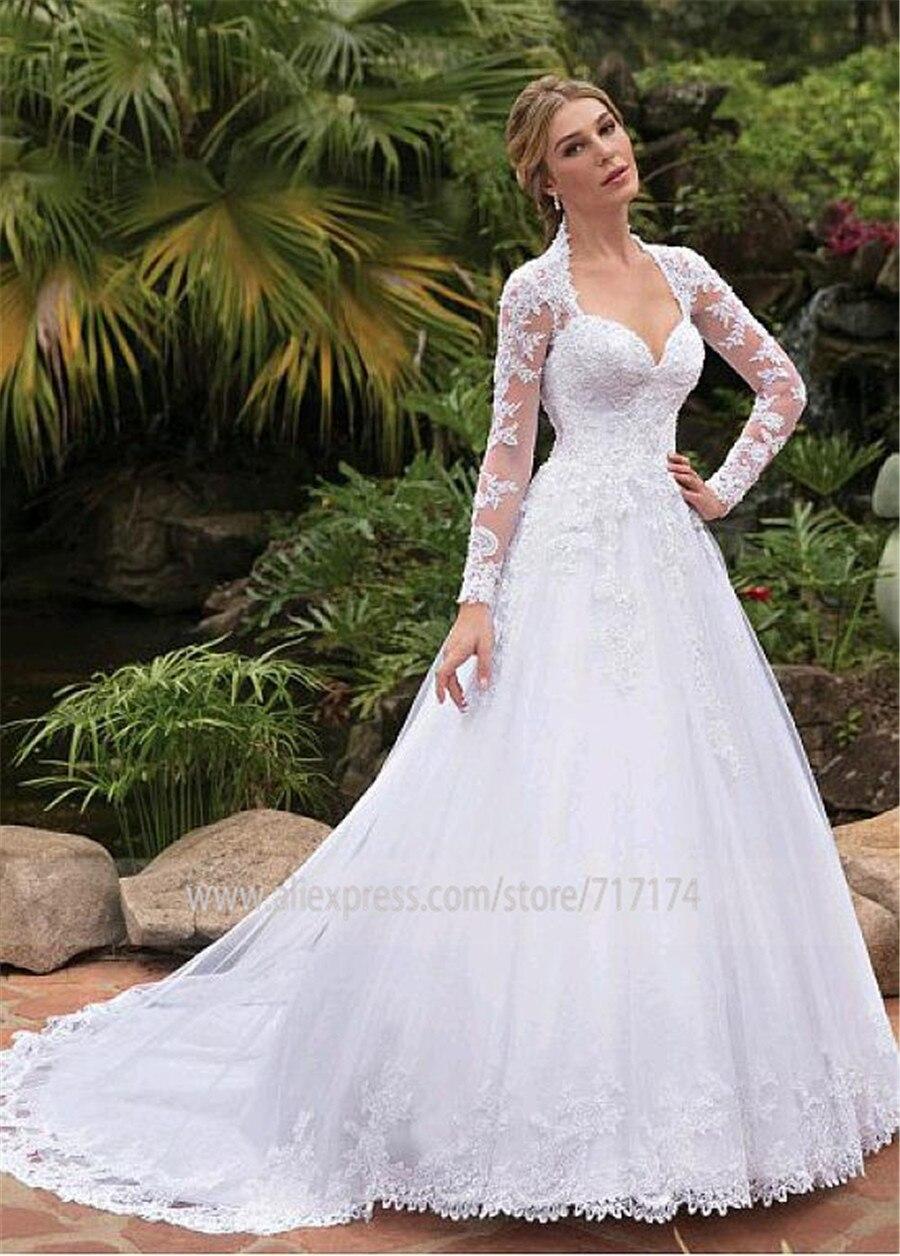Abiti Da Cerimonia Queen.Fantastic Tulle Queen Anne Neckline A Line Wedding Dresses With