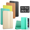 Para ipad air 1/air 2, alta calidad inteligente sleep despertador case tableta de la pu cubierta de cuero para apple ipad air1 o air2