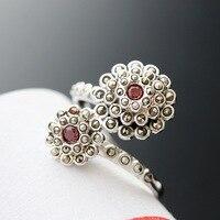 Ecoworld Ge hand set Markasit schmuck großhandel 925 Sterling Silber Ring Nvjie Vintage Silber Ring