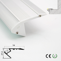고품질 알루미늄 led 채널 최근 계단 조명 LED 램프 계단 조명기구 실내 사용 사용자 정의 길이 ok