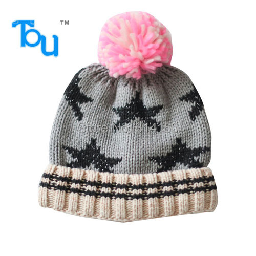 Tou 2015 infant hats baby kinder gestrickte hüte grau stern muster ...