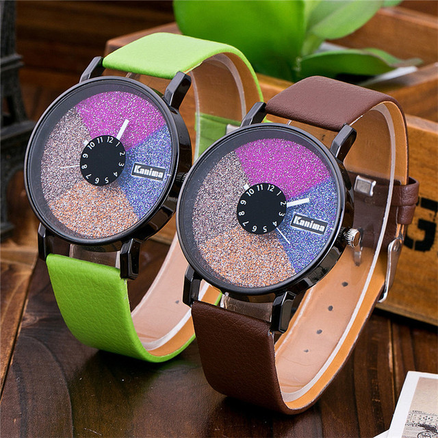 FUNIQUE Color Disc Leather Student Watch PU Leather Ladies Watch Dress Clock Calendar Relojes feminino Wristwatch Dropshipping
