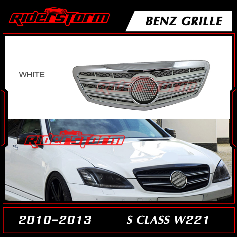 Replacement Accessories Auto Front Bumper Mesh Grille Parts Suitable for Mercedes Benz S Class W221 2010-2013 Grill Emblem Badge new auto car super bee for charger srt8 front grill grille emblem badge 02