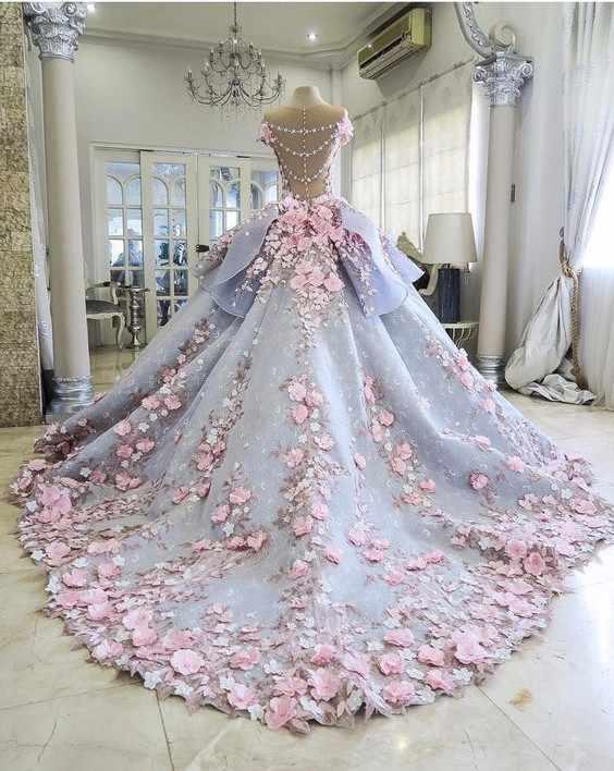 サウジアラビアアラビア新ドレスゴージャスなローブ · ド · 夜会花 2019 ドレスささやかなフォーマル 3D 花ロングガウン