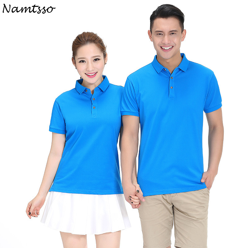 New Men Polo Shirt Business Casual solid color women C T Cotton ... a3151f8a2