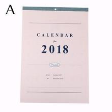 2018 Agenda Planner Organizer Calendario Daily Table Planner ~2018.12 Creative Large Calendar Wall calendar Planner