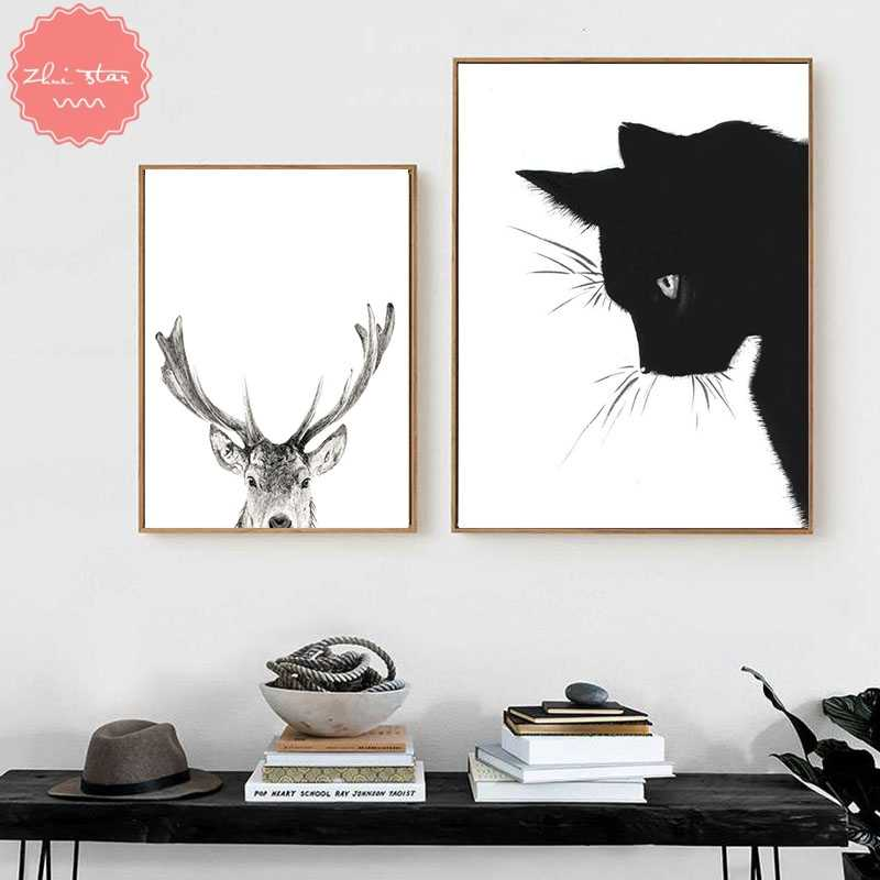 diamond painting Wild Animal Black White Cat mosaic cross-stitch diamond embroidery sale christmas decorations for home
