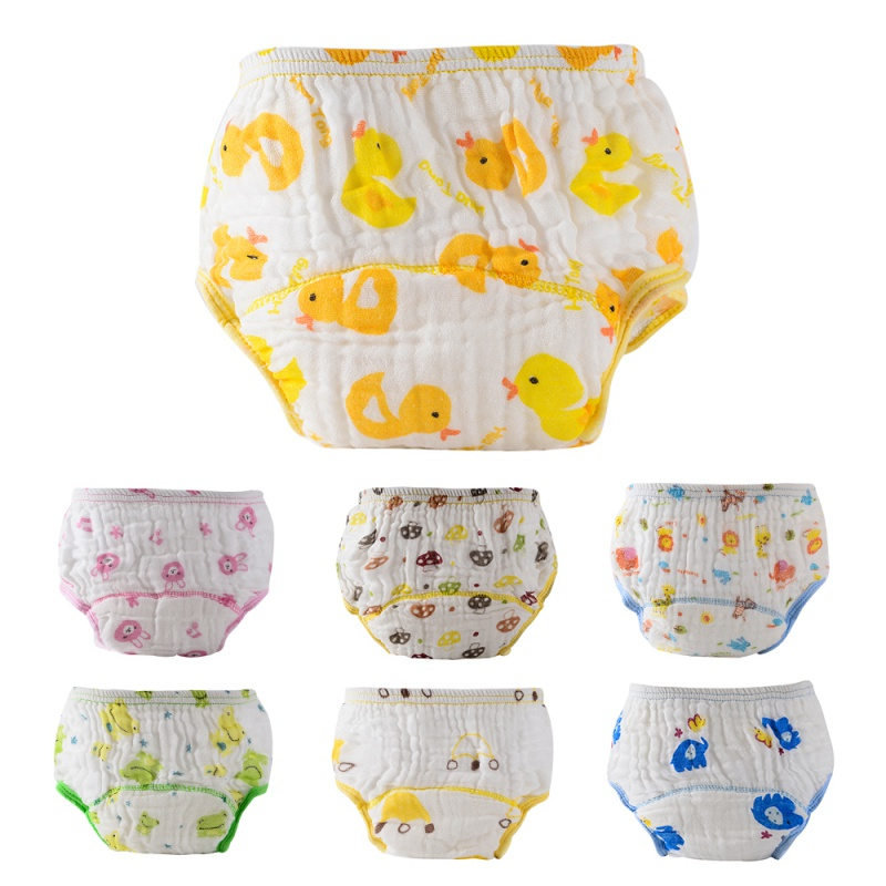 Summer Gauze Thin Breathable Bamboo Fiber Cotton Printed Reusable Nappies Cloth Diaper Cartoon Baby Diaper Pocket