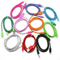 Colorful Braided Wire 1M 2M 3M Sync Data Charger Cable for iPhone 5 5s 6 6plus for ipad Mini