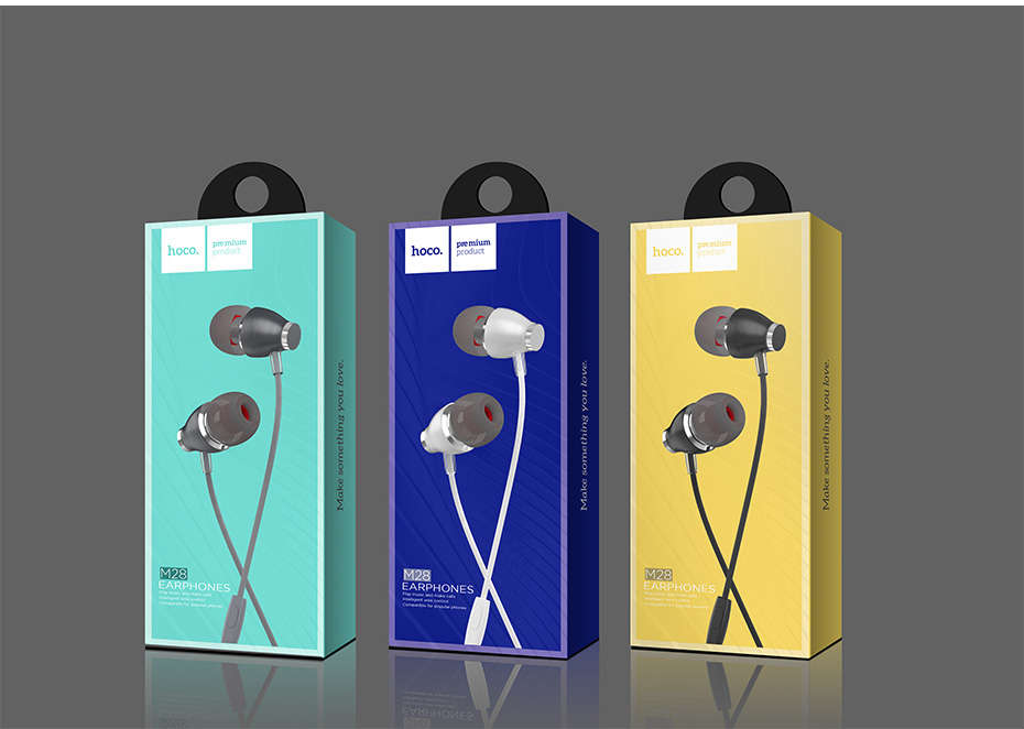 HOCO Hi Res Audio In Ear Earphone Metal Heavy Bass Sound Music Earphones High End Brand Headset fone de ouvido for Phone PC in Bluetooth Earphones Headphones from Consumer Electronics