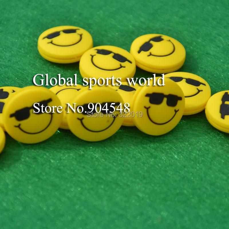 FUNNY Smile Tennis Racket Vibration Dampener Silicone Tennis Racket Dampener/shock Absorber 20 Pcs