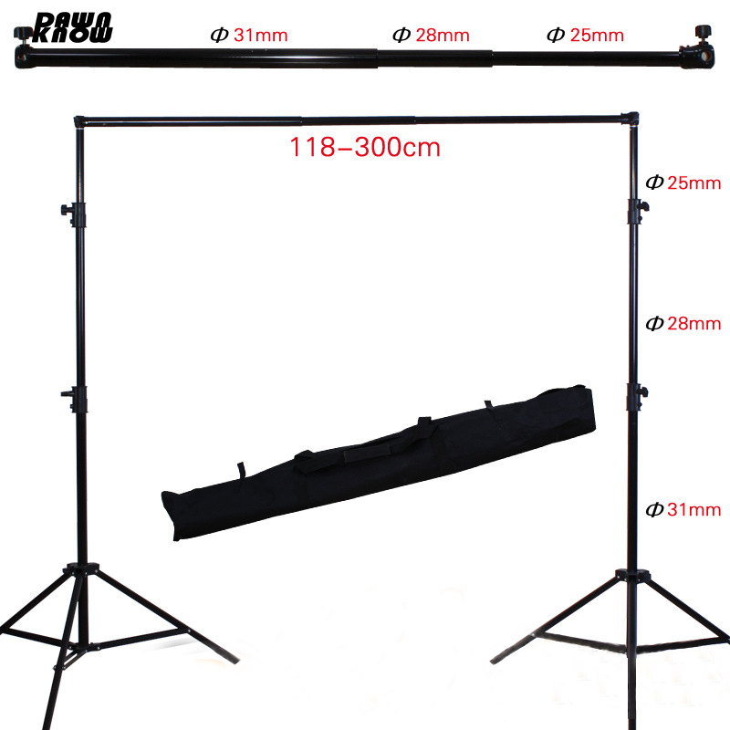 DAWNKNOW Pro Photography Photo Backdrops Background Support System Stand For Photo Studio carry bag 3 clips ashanks 8 5ft 10ft background stand pro photography video photo backdrop support system for fotografia studio with carrying bag