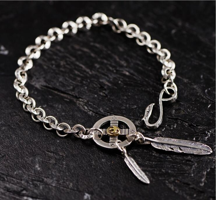 Lengkea jewelry men bracelets 925 silver bracelet personality Eagle feather model Cool men jewelry charm bracelet boyfriend Gift-in Chain & Link Bracelets from Jewelry & Accessories on AliExpress - 11.11_Double 11_Singles' Day 1