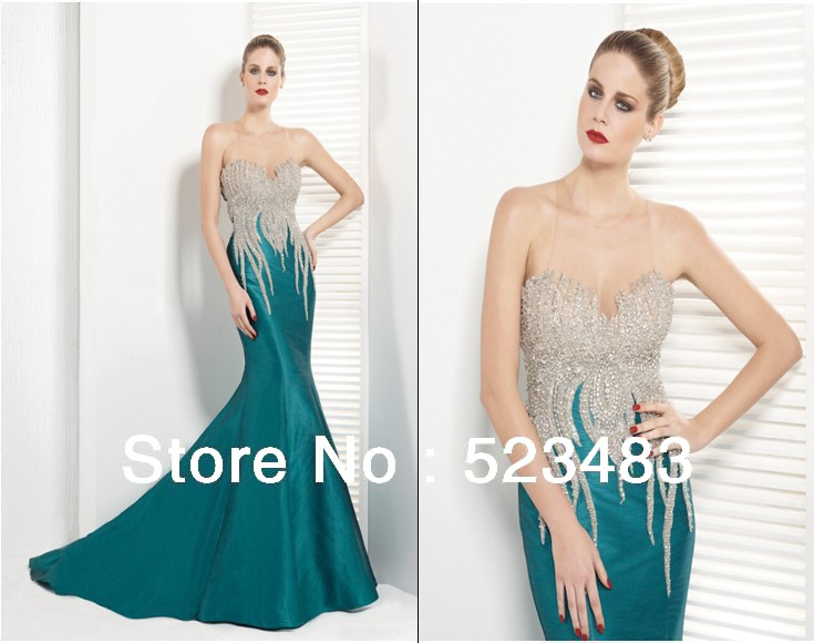 2efa133a519 Unique Classy elegant long formal gowns green evening Dreses crystal mother  dress floor length E012
