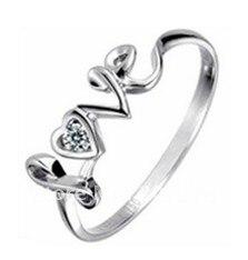 Свадебные Кольца для Для женщин любовник у выгравированы обещание серебро в форме сердца гранат кольцо Размер 12 Для женщин s