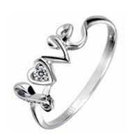 Anéis de casamento Para As Mulheres Amante U Gravado Promessa de Prata Em Forma de Coração Tamanho do Anel Granada 12 Das Mulheres