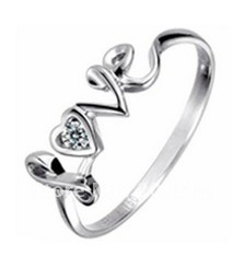 Wedding Rings For Women Lover U Engraved Promise Silver Heart Shaped Garnet Ring Size 12 ...