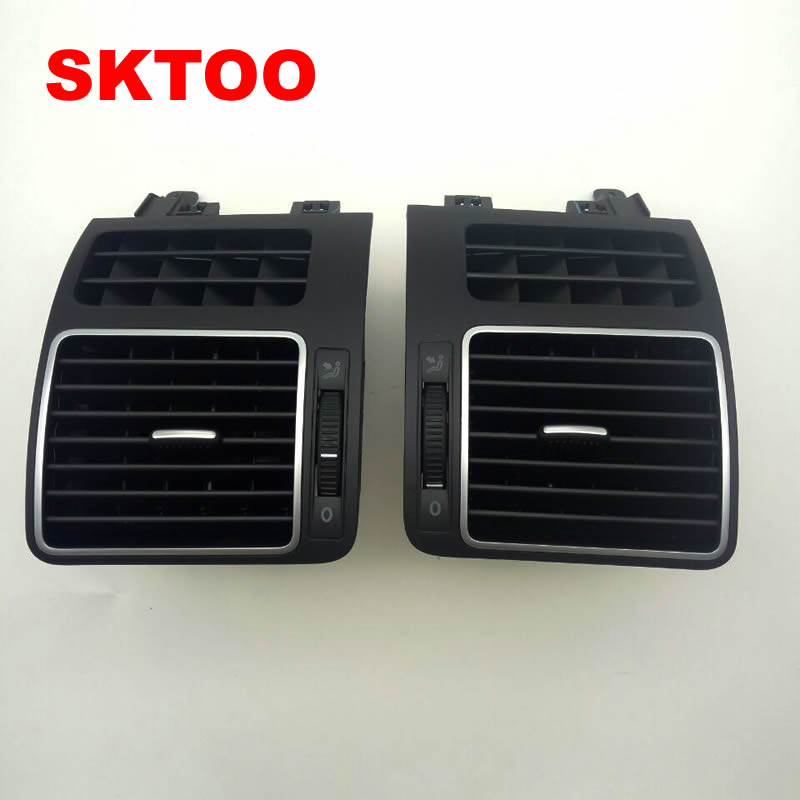 SKTOO A Pair Dashboard Front Left Right Chrome AC Air Vent Outlet For VW Touran 2008