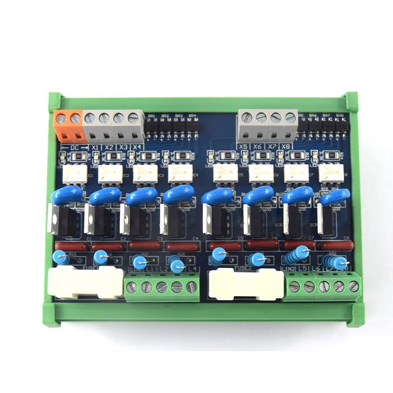 8-channel AC PLC amplifier board, PLC output board, original thyristor, optocoupler isolation RC anti-surge цены