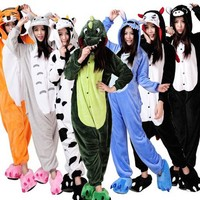 22 Style Chirstmas Cute Animal Pajamas Cartoon Pijama Cosplay Pijamas Adults Flannel Onesies Women Set Boys