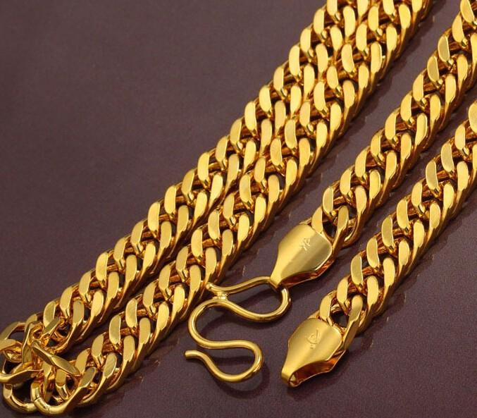 бесплатно гравируют новые 60 см хип-хоп 24kgp длинные золотые цепочки большой мужская 24 к Порше цепи красивый рок соло ожерелье