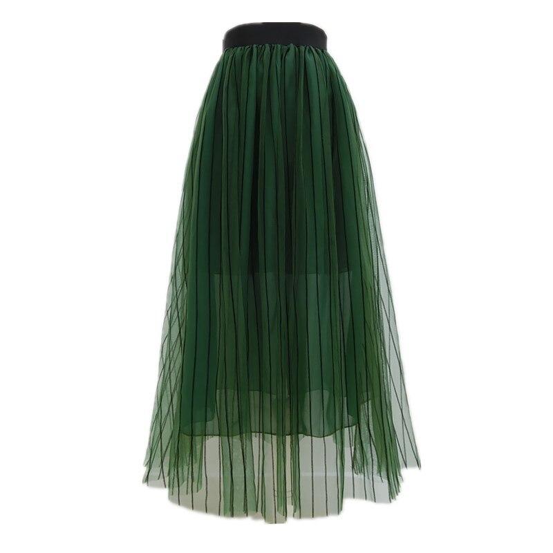 Новое поступление сезон: весна–лето Для женщин Элегантные линии зеленый цвет фея юбка XHSD-3183