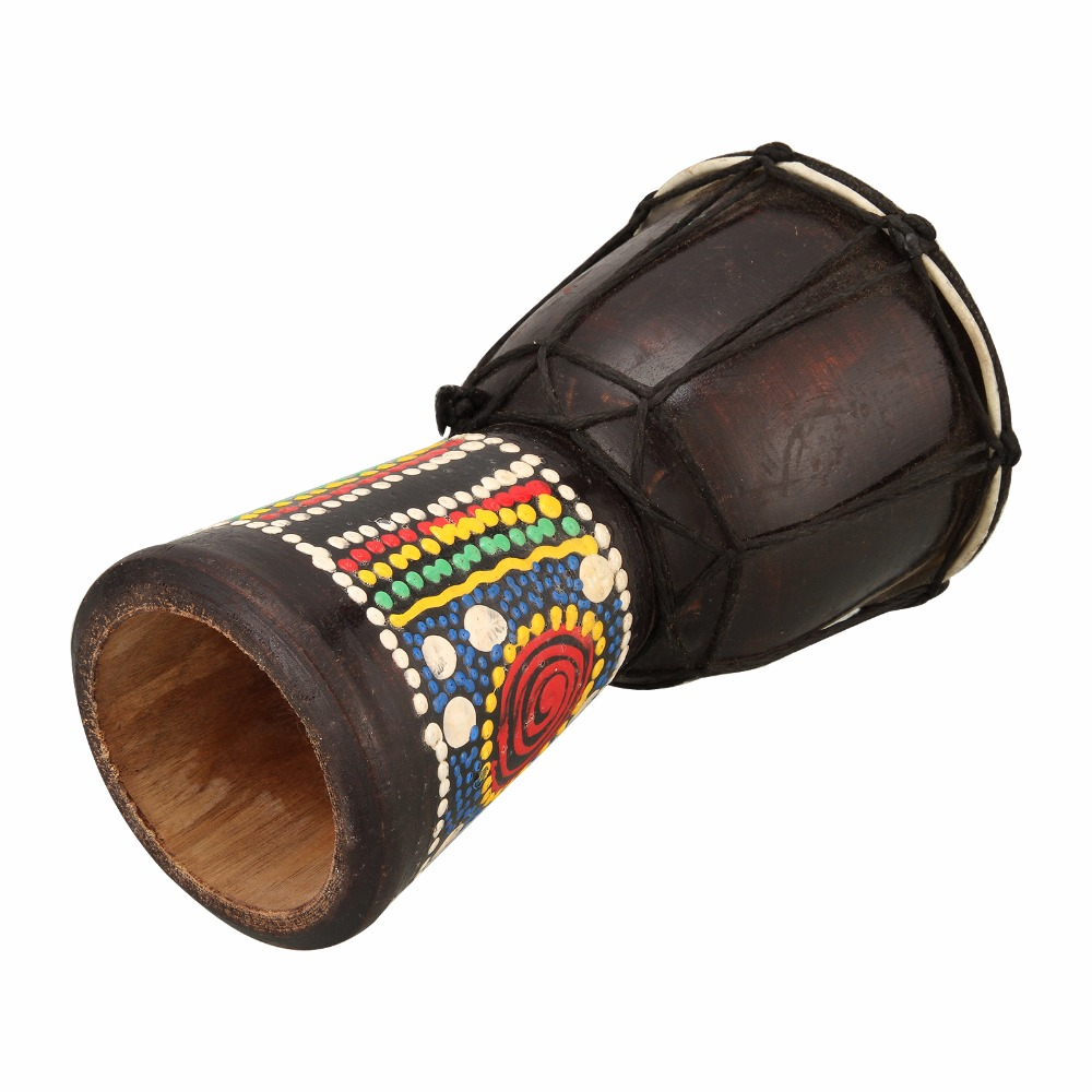 Tambor manual de madeira djembe africano, instrumento