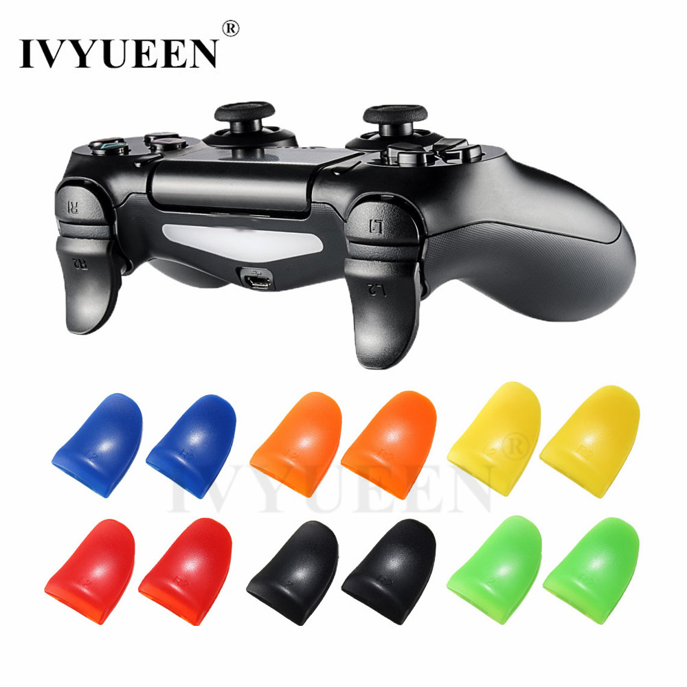 IVYUEEN For Playstation PS4 Pro Slim Controller R2 L2 Trigger Extenders Attachments For Dualshock 4 DS4 Gamepad